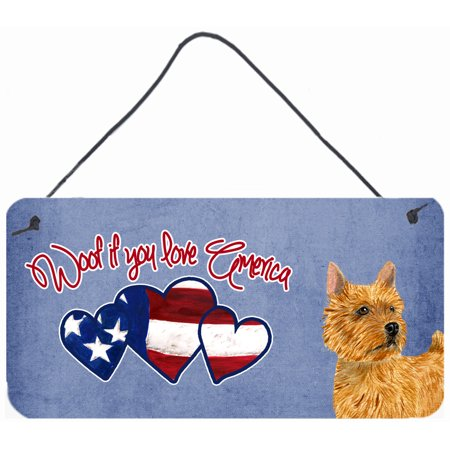 Woof if you love America Norwich Terrier Wall or Door Hanging Prints SS5010DS612