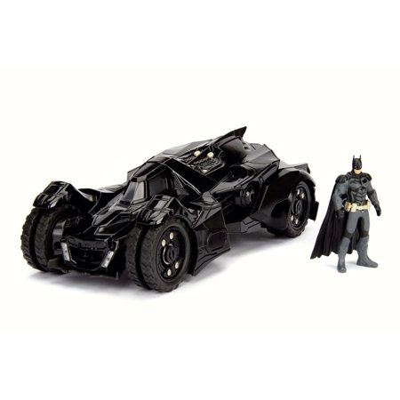 Batmobile w/ Batman figure, Arkham Knight - Jada 98037 - 1/24 Scale Diecast Model Toy Car (Kids Batmobile Car)