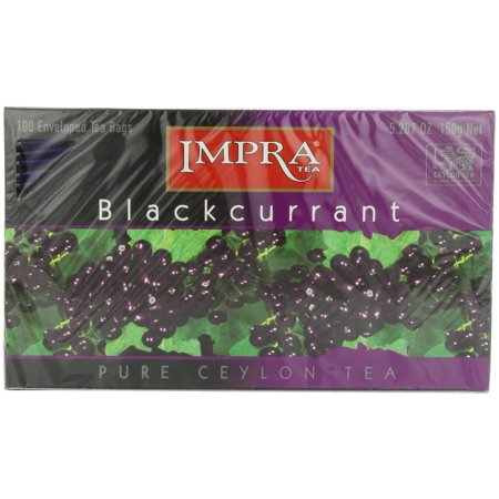 Impra Black Currant Tea, 100-Count Tea Bags. Includes Our Exclusive HolanDeli Chocolate Mints. Black Currant Flavored Tea