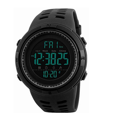 Mens Military Watch, Sports Wrist Digital Watch with Large Dial Fashion LED Electronic Wristwatch Army Water Resistant