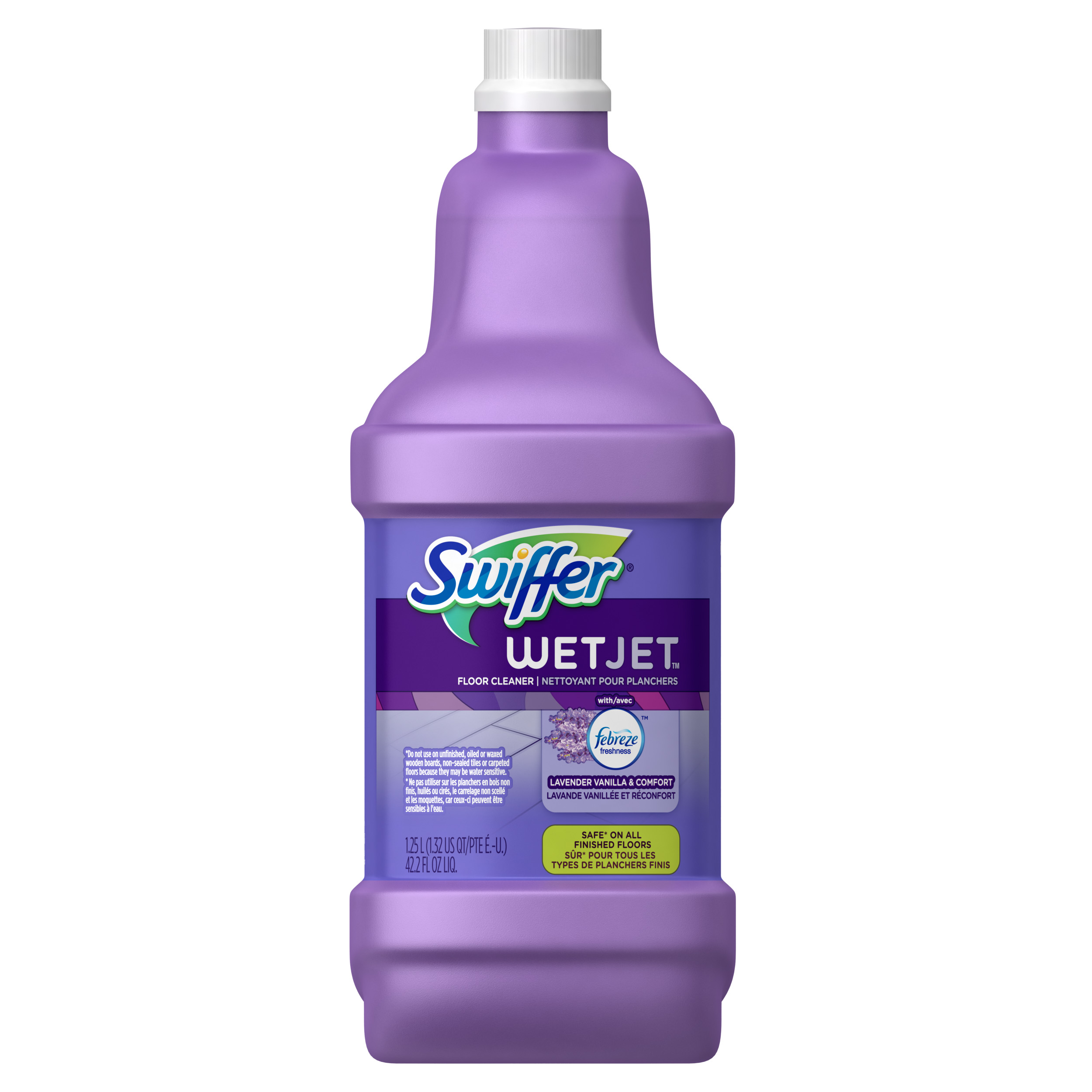 Swiffer WetJet Multi-purpose Floor Cleaner Solution Refill with Febreze Lavender Vanilla & Comfort Scent 1.25L