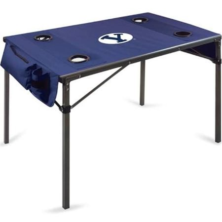 Picnic Time 799-00-138-714-0 Brigham Young University Cougars Digital Print Travel Table, Navy - image 1 de 1