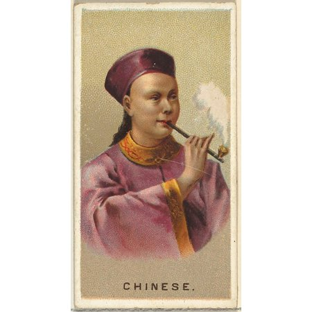 Chinese from Worlds Smokers series (N33) for Allen & Ginter Cigarettes Poster Print (18 x
