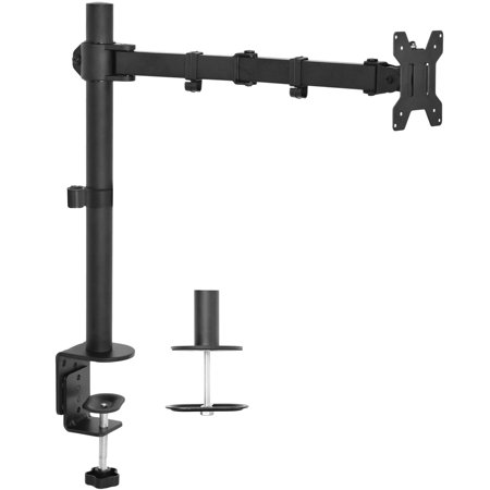 VIVO Single LCD Monitor Fully Adjustable/Tilt up to 27'' Desk Mount Stand