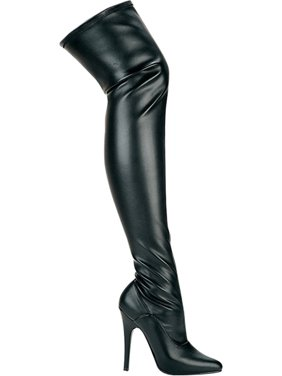 a00033604443 Product Image 5 Inch Sexy Thigh High Boot Women's Stretch Boots Single Sole  Pointed Toe