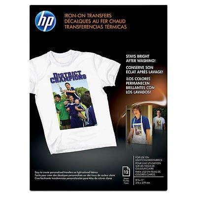 HP, HEWC6049A, Inkjet Iron-On Transfers, 12 / Pack, (Best T Shirt Transfer Paper Uk)