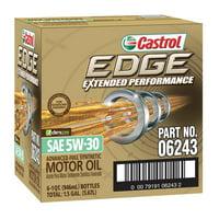 Castrol Edge Extended 5w30 Motor Oil, 1 qt, 6-Pack