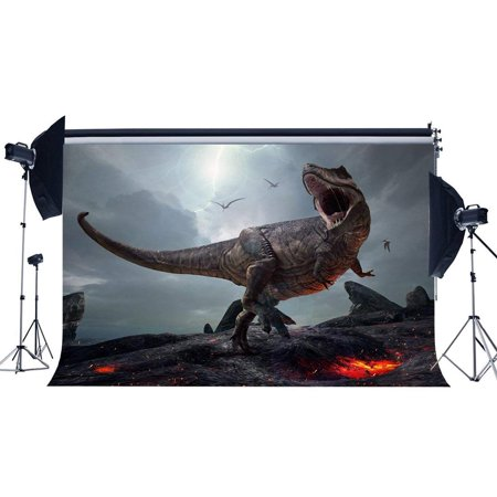 ABPHOTO Polyester 7x5ft 3D Dinosaur Backdrop Jurassic Period Cartoon Backdrops Scary Flying Dinosaur Fairytale Photography Background for Boys Kids Happy Birthday Party Decor Photo Studio Props](Scary Cartoon For Kids)