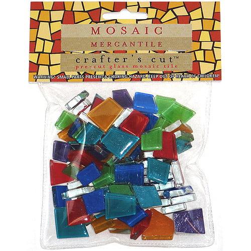Mosaic Mercantile - Crafter's Cut Pre-Cut Mosaic Tiles - Tonal Mixes - Assorted Solid Colors, 1/2 lb. Bag