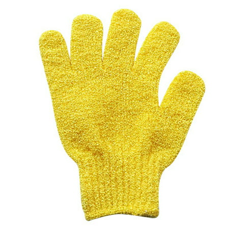 Tuscom 1Pair Exfoliating Gloves Full Body Scrub - Shower or Bath Spa Massage Exfoliation Accessories Scrubs Away Dead Skin Cells For Soft Skin And Improve Blood