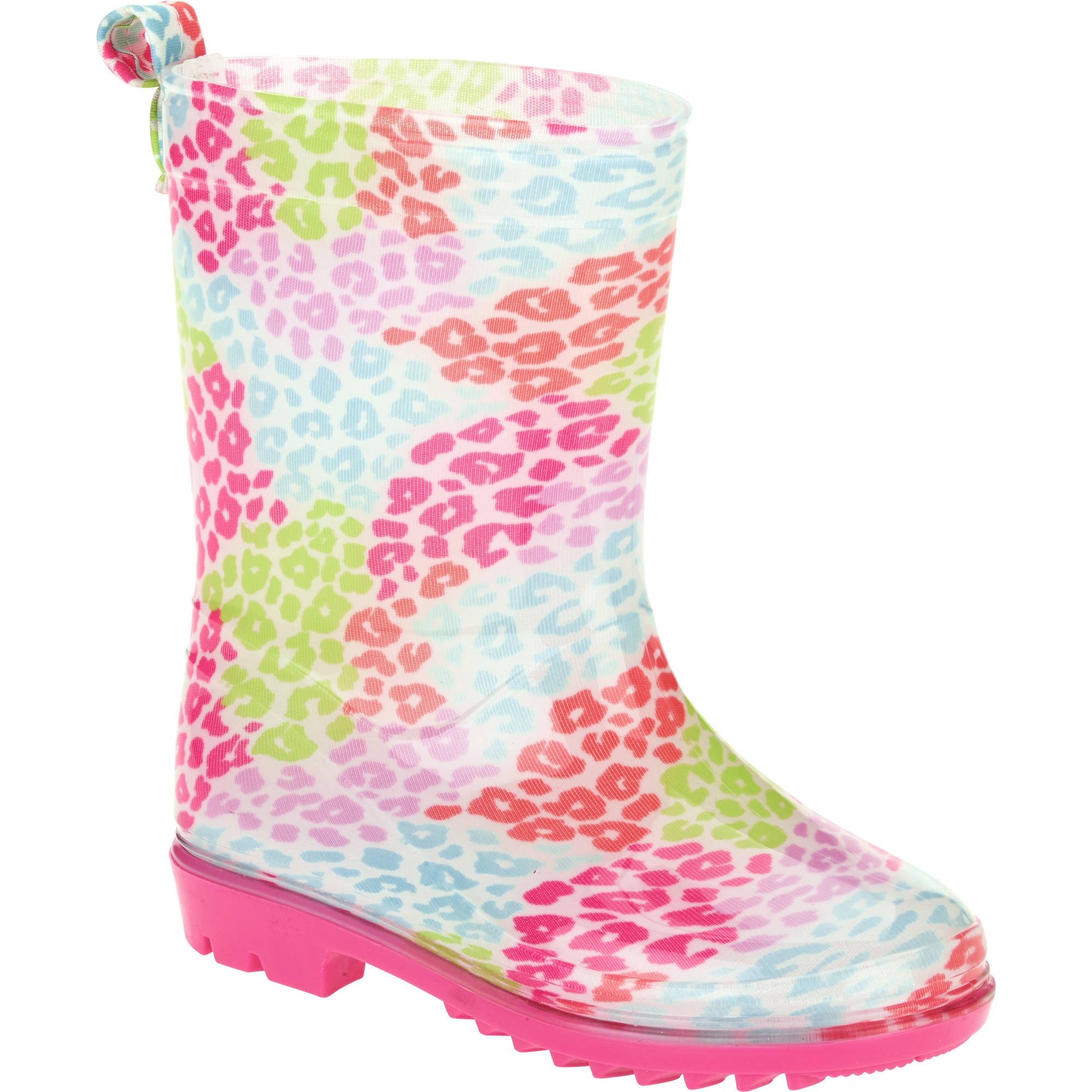 Western Chief Kids Rechargeable LED Rain Boot Digital Green Camo Toddler Size 9
