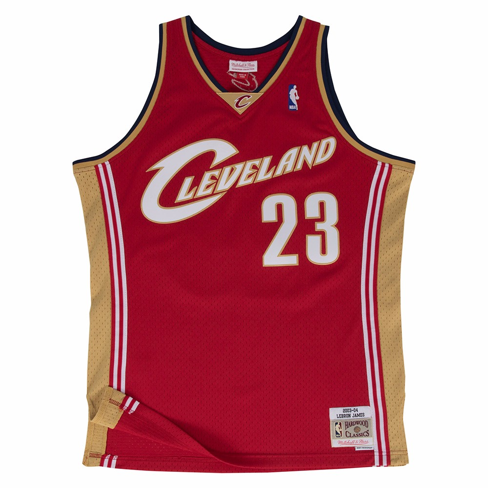 Lebron James Cleveland Cavaliers NBA Mitchell & Ness Maroon 2003-04 Swingman Throwback Jersey For Men