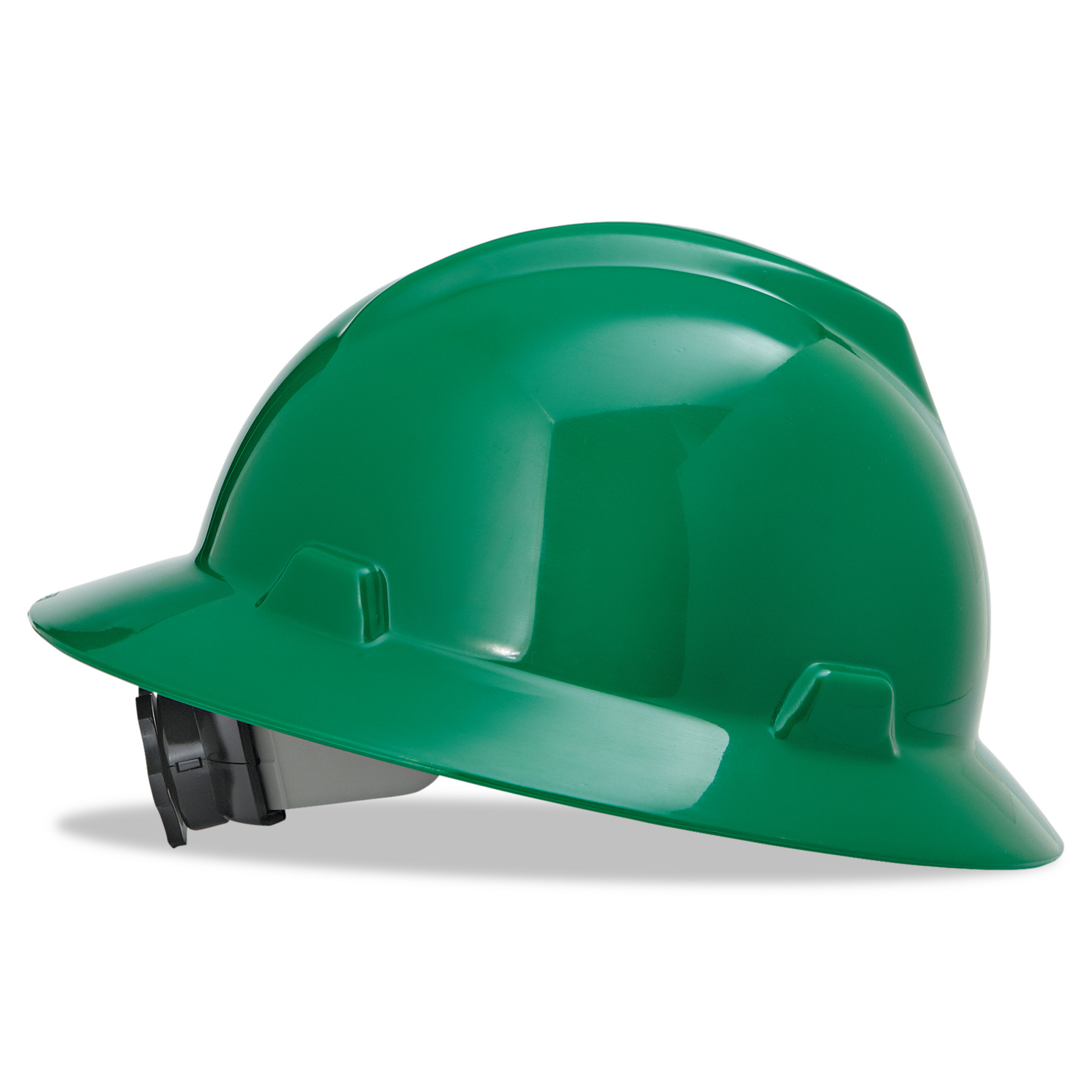 MSA V-Gard Full-Brim Hard Hats, Ratchet Suspension, Size 6 1 2 8, Green by SAFETY WORKS