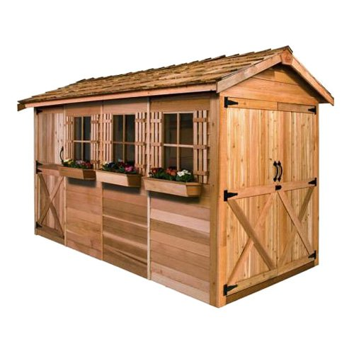 Cedar Shed 16 X 8 Ft. Boathouse Garden Shed