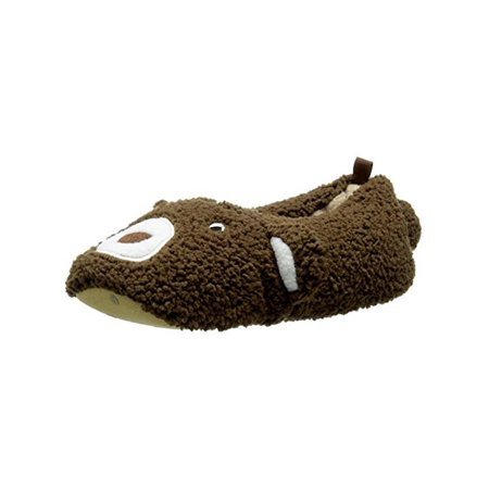 Carters Yoshi Toddler Plush Slippers Brown L