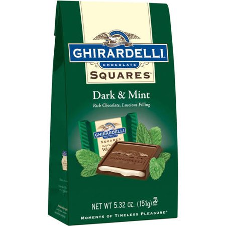 Ghirardelli Squares Dark & Mint Dark Chocolates, 5.32 Oz.
