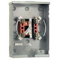 Milbank U5934-XL-BLG 1 Phase Ringless Meter Socket 4 Jaw 1 Position 100 Amp