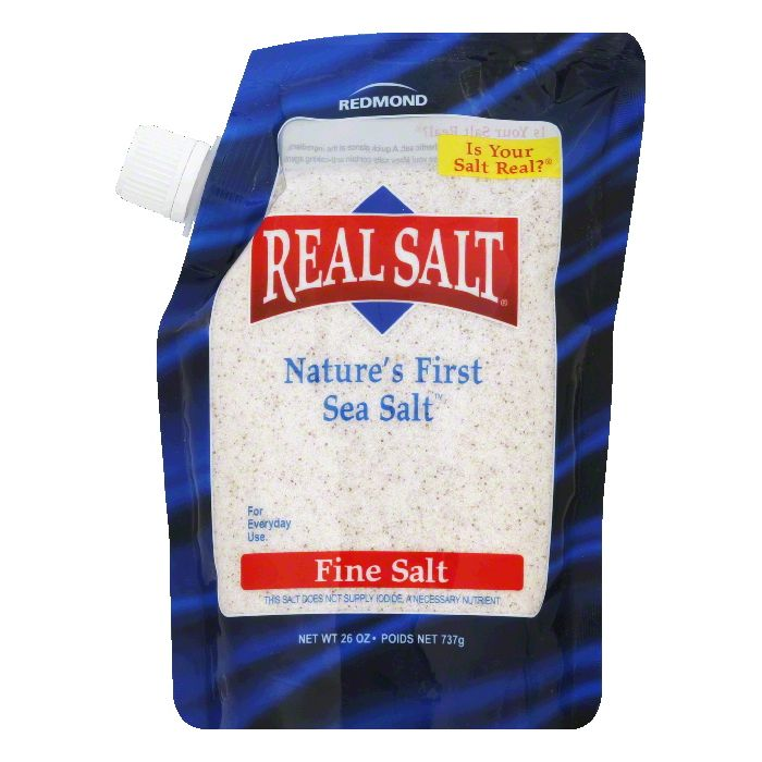 Redmond Fine Nature's First Sea Salt, 26 OZ (Pack of 12)