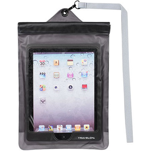 Travelon Waterproof Pouch for iPad and Tablets - White Waterproof pouch for iPad and Tablets