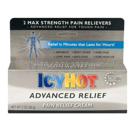 Icy Hot Advanced Relief Pain Relief Cream, 2.0 (Maximum Strength Advanced Pain Relief)