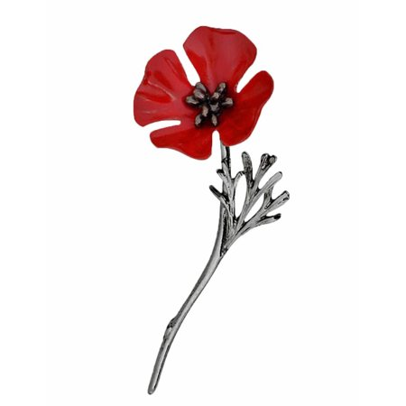 Christmas clearance red poppy flower brooch lapel pin clothes red poppy flower brooch lapel pin clothes accessory glste mightylinksfo