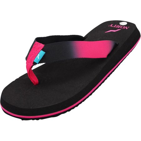 Norty Womens Platform Soft Cushioned Footbed Flip Flop Thong Sandal - Runs One Size Small, 40692 Back/Fuchsia Ombre / 8B(M)US