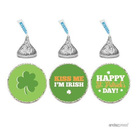 Chocolate Drop Labels Trio, Hershey's Kisses Party Favors, Happy St. Patrick's Day Kiss Me I'm Irish, - Party City Near Me