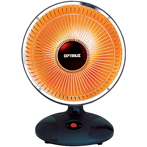 "Energy Efficient 9"" Dish Desk Heater Fan w/ 300w Heating Setting & Safety Switch"