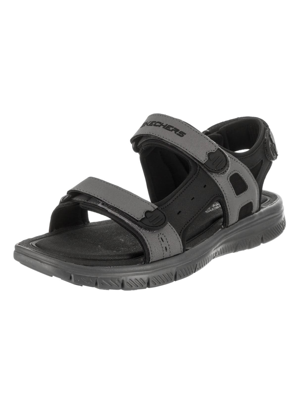 cf59885d572e skechers flex advantage s upwell mens black charcoal sport sandals