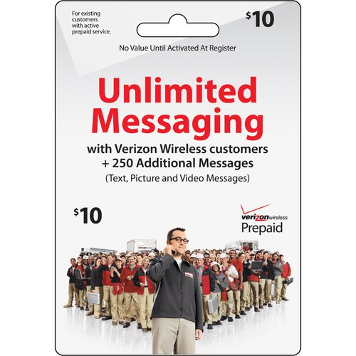 Verizon Wireless $10 Unlimited Messaging Prepaid Card