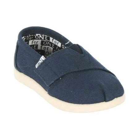 TOMs Unisex Alpargata Slip on Sneakers (Infant/Toddler/Big Kid), Navy, 2 M US Infant](Infant Toms On Sale)