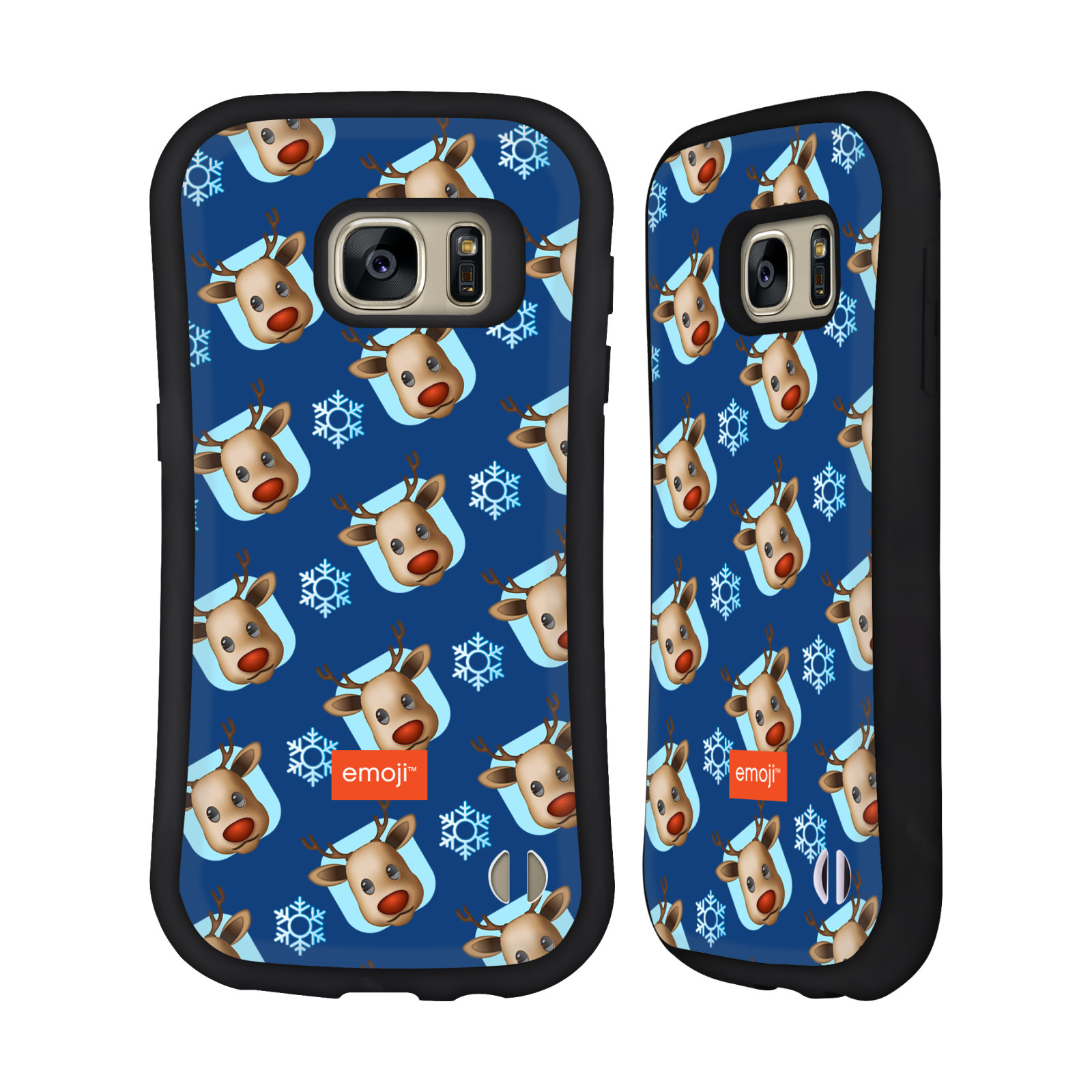OFFICIAL EMOJI CHRISTMAS PATTERNS HYBRID CASE FOR SAMSUNG PHONES