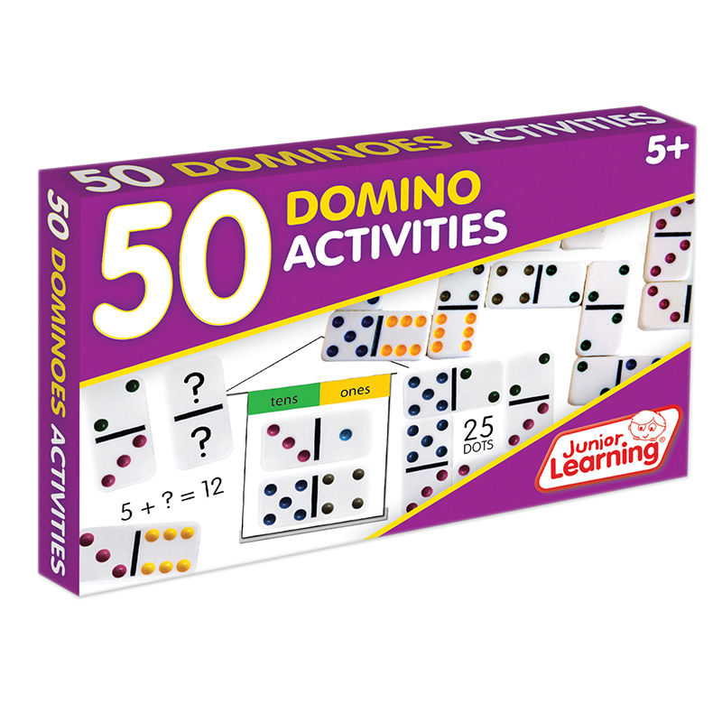 Junior Learning - 50 Dominoes Activites Learning Game