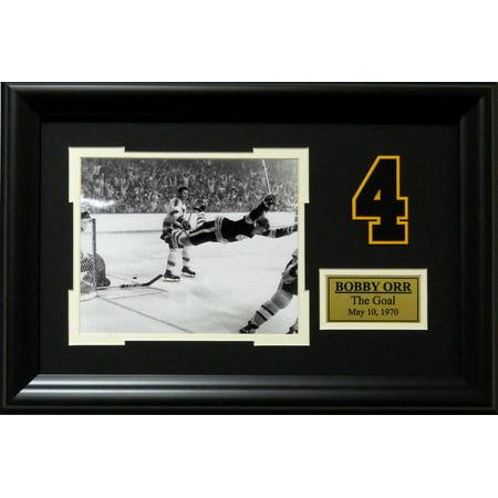 Boston Bruins Bobby Orr Goal May 1970 Deluxe Framed Photo