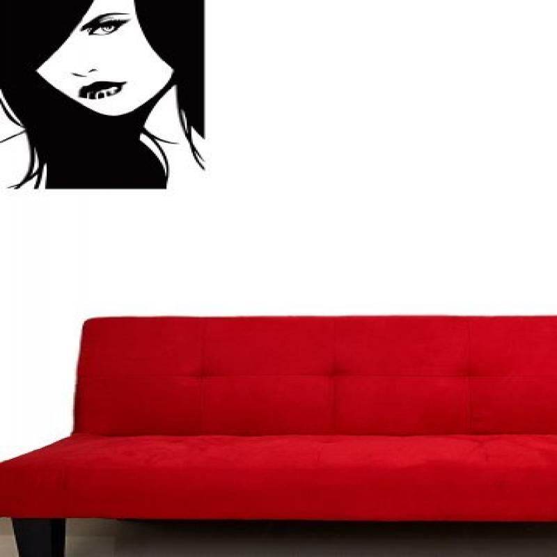 Fashion Wall Stickers Vinyl Decal Barbershop Hairstyle Sexy Girl Beauty Salon
