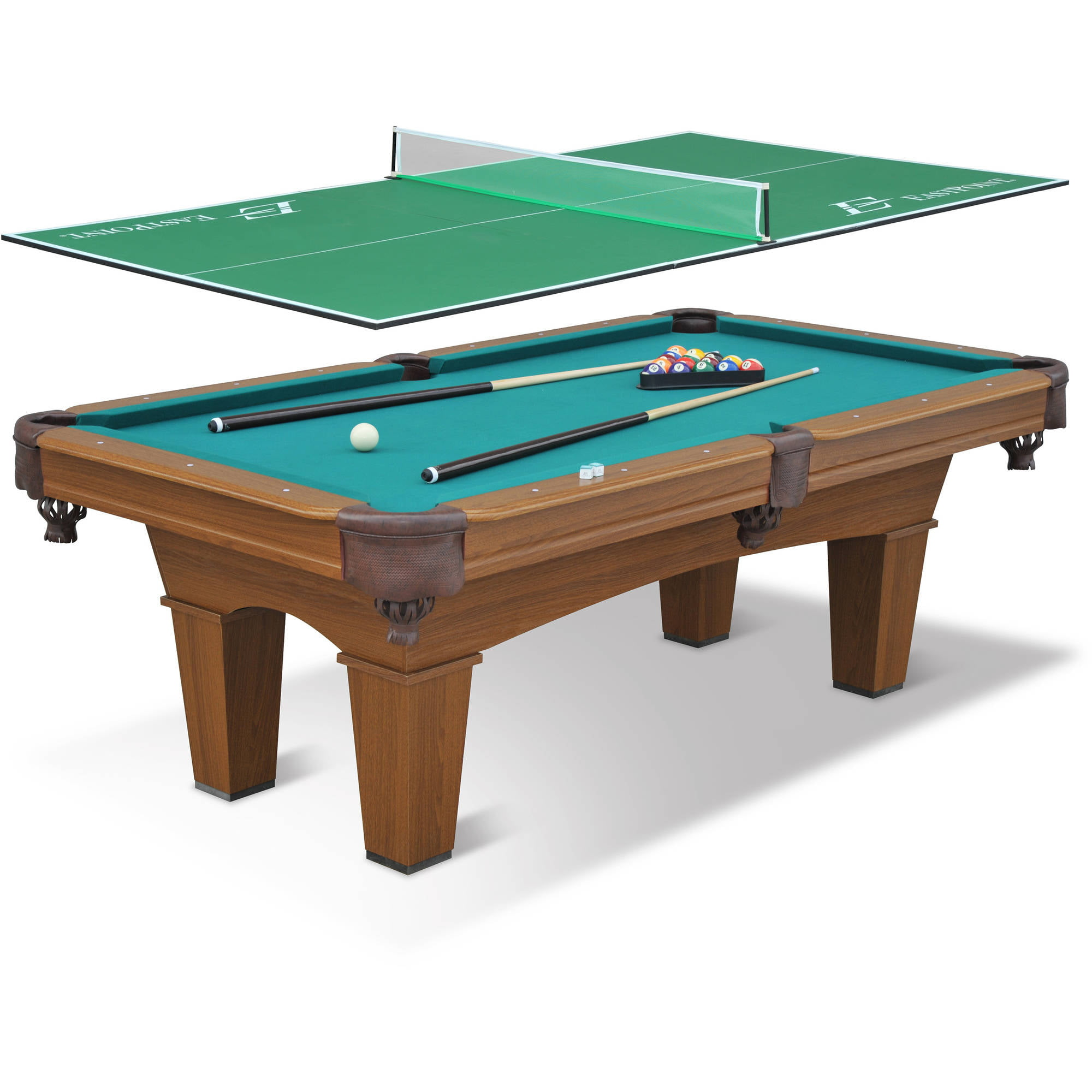 EastPoint Sports Sinclair Billiard Pool Table With Piece Table - Combination pool and ping pong table
