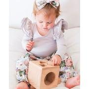 Hot Newborn Baby Kids Girl Clothes Romper Shirt Tops+Floral Pants Outfits 3PCS Set