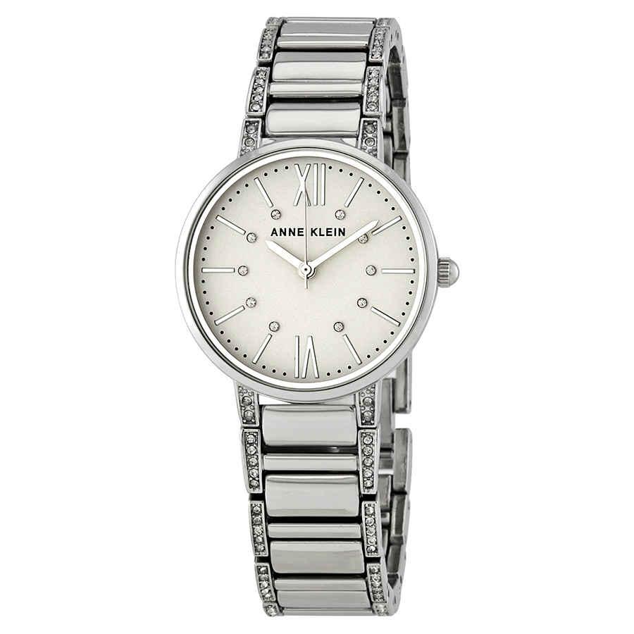 Anne Klein Crystal Silver Dial Ladies Watch AK/3201SVSV
