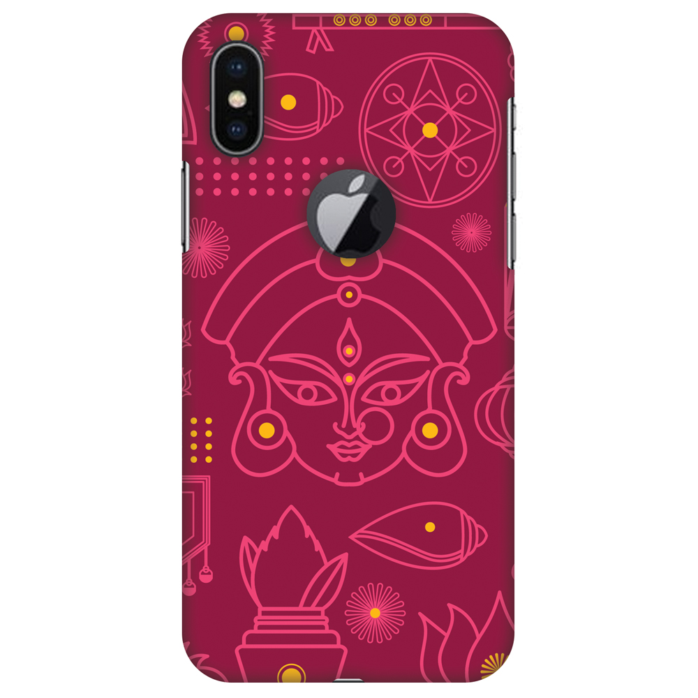 iPhone X Case - Divine Goddess - Red, Hard Plastic Back Cover. Slim Profile Cute Printed Designer Snap on Case with Screen Cleaning Kit