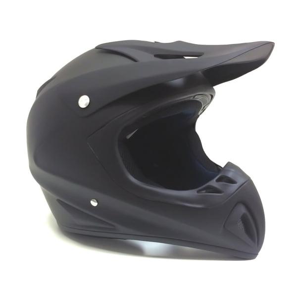 Adult Motorcycle Off Road Helmet DOT - MX ATV Dirt Bike Motocross UTV - Flat Matte Black X-LARGE + FREE Goggles