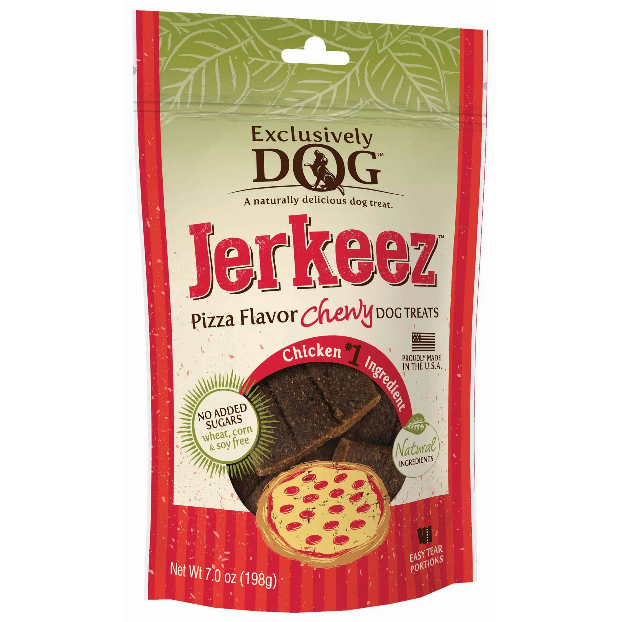 Exclusively Pet Jerkeez Dog Treats, Pizza Flavor, 7 oz