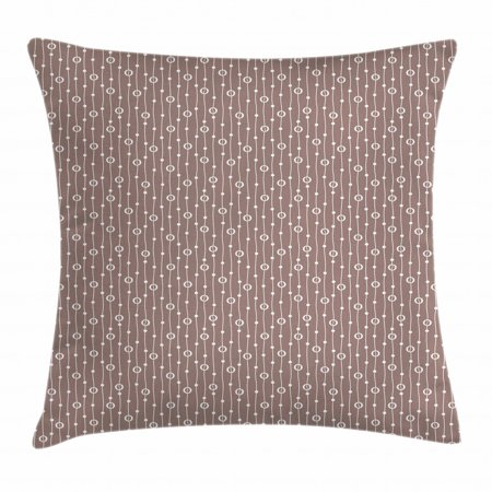 Geometric Throw Pillow Cushion Cover, Coffee Bean Pattern with Vertical Stripes Ornamental Simplistic Design, Decorative Square Accent Pillow Case, 16 X 16 Inches, Warm Taupe White, by Ambesonne Taupe Square Pillow