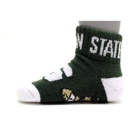 Michigan State Spartans Youth Quarter Sock