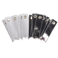 Platinum Paper Pennant Tags, Silver/Grey, 2-Inch, 20-Count