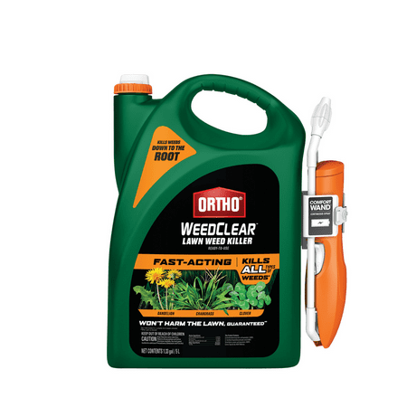 Ortho WeedClear Lawn Weed Killer Ready-to-Use with Comfort Wand (North), 1.33 gal.