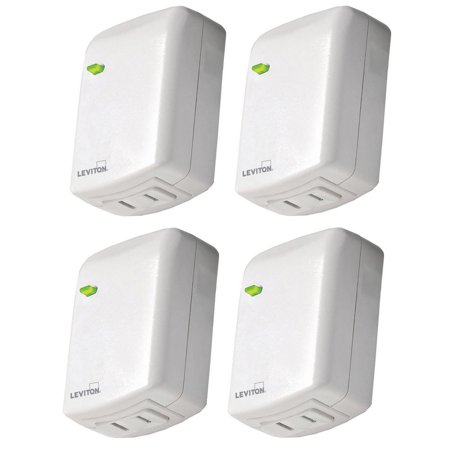 Leviton DZPD3-2BW Decora Smart Dimmer with Z-Wave Plus Technology (4-Pack)