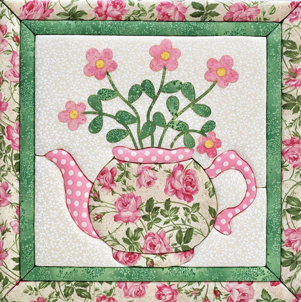 Floral Teapot Quilt Magic Kit