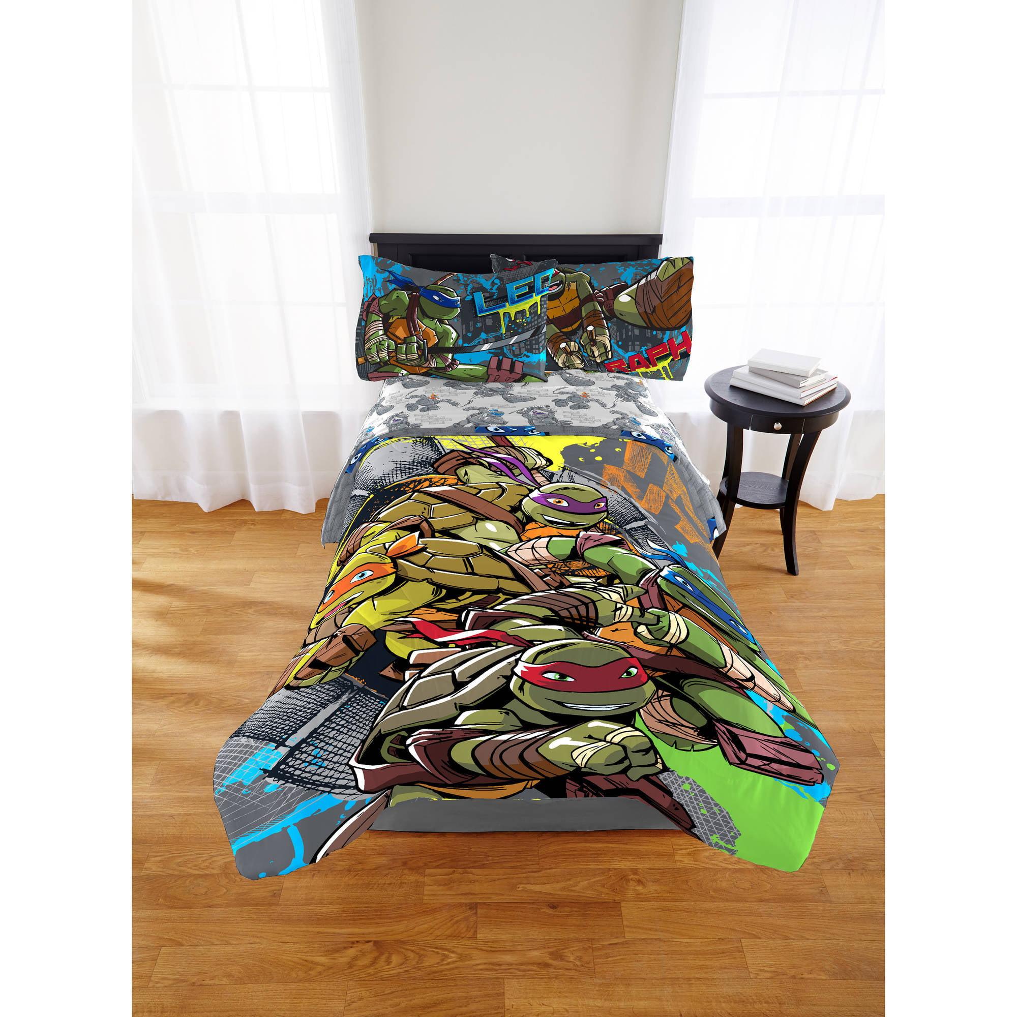 Teenage Mutant Ninja Turtles Cross Hatching Twin/Full Comforter