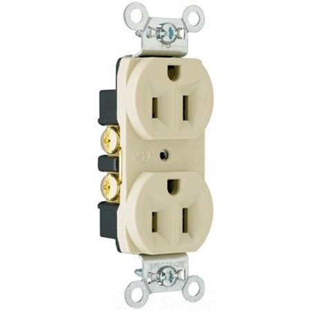 Pass & Seymour CRB5262I Construction Grade Ivory Duplex Receptacle Outlet 15A -