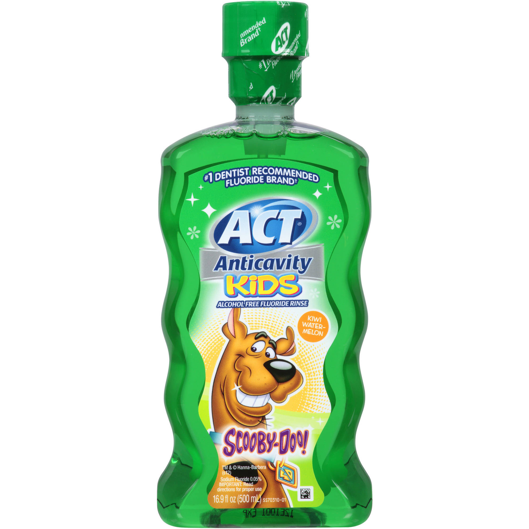ACT Anticavity Kids Scooby-Doo! Kiwi Watermelon Alcohol Free Fluoride Rinse, 16.9 fl oz